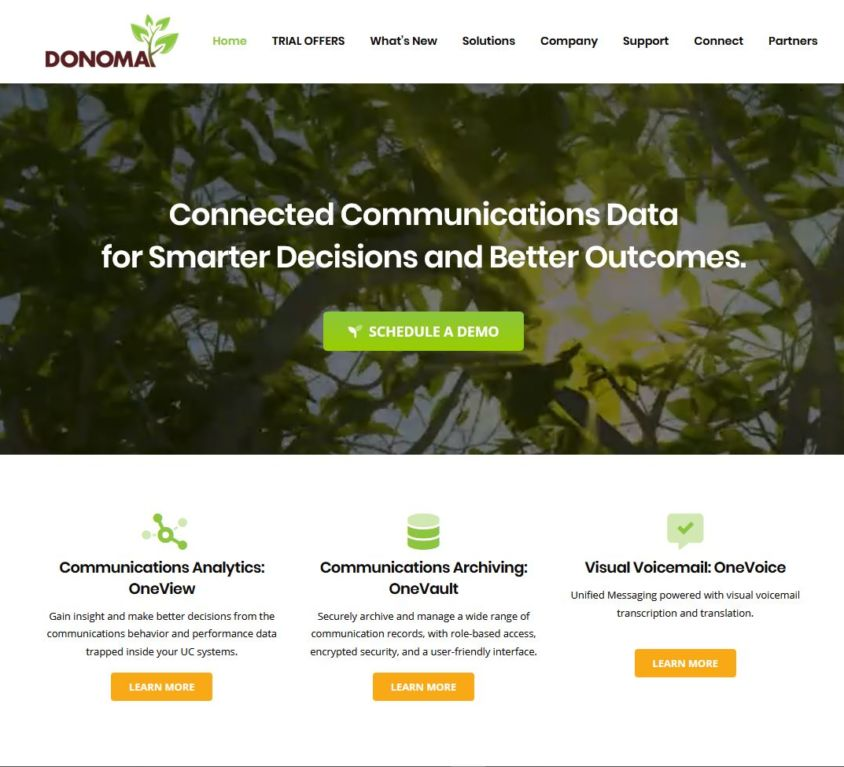 Donoma Software – Website